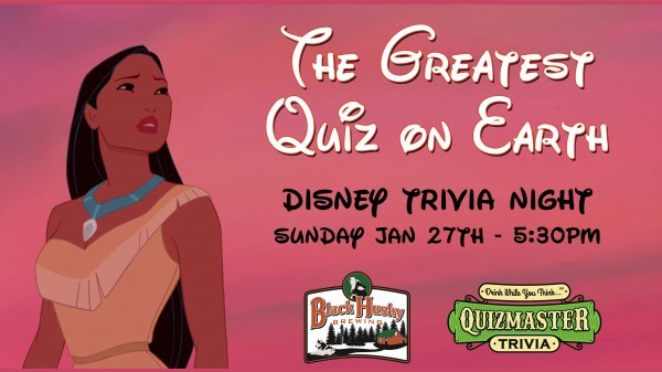 Disney Trivia Hosted by Quizmaster